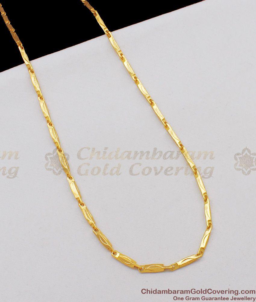 CGLM13 Stunning Design Gold Finish Mens Cross Cut Model Regular Wear Chain