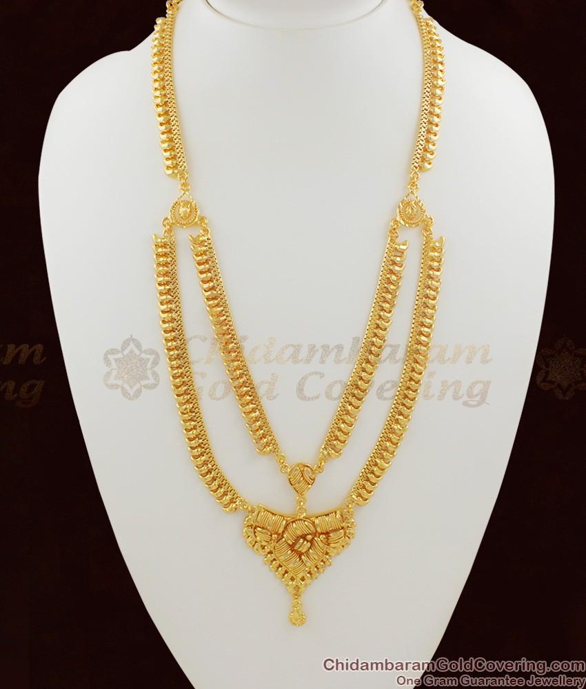 Calcutta Design Pure Gold Double Line Traditional Haram HR1019