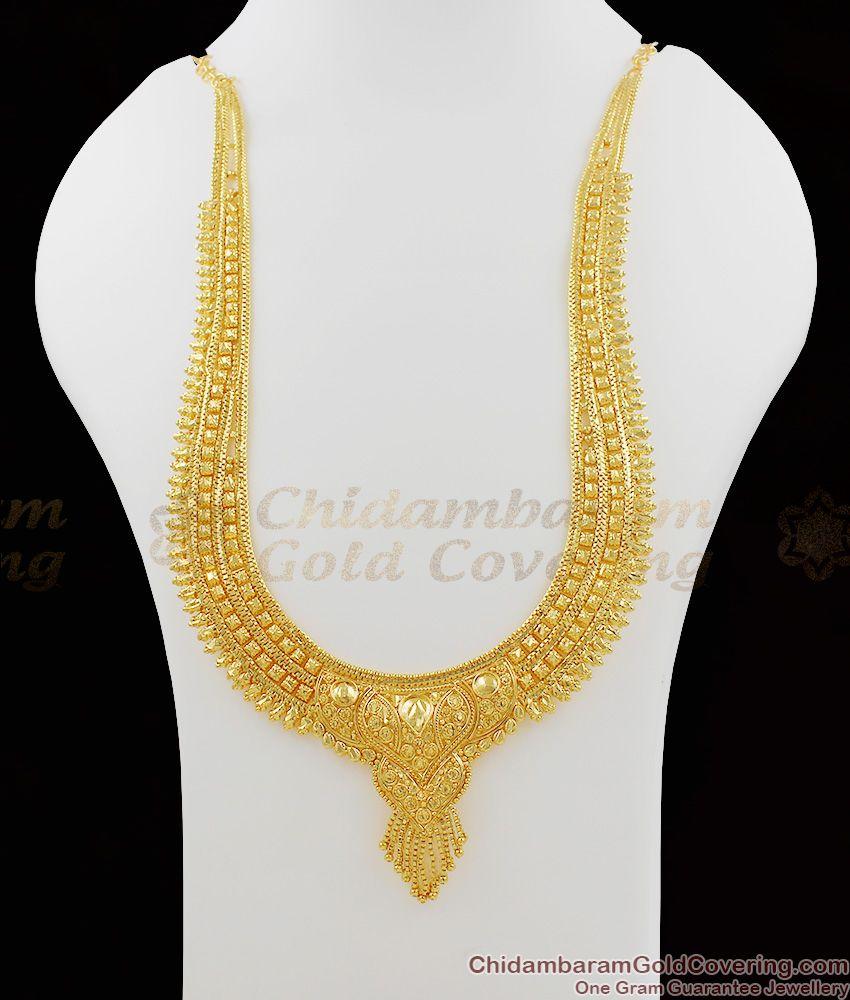 Grand Culcatta Traditional Gold Haram Design Bridal Wear Collections HR1035