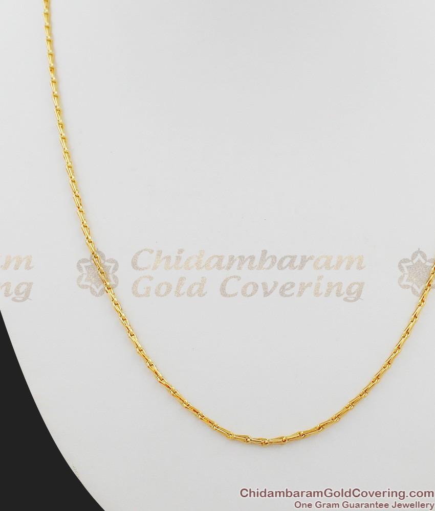 Thin Gold Plated Regular Wear Short Chain For Men CHNS1001