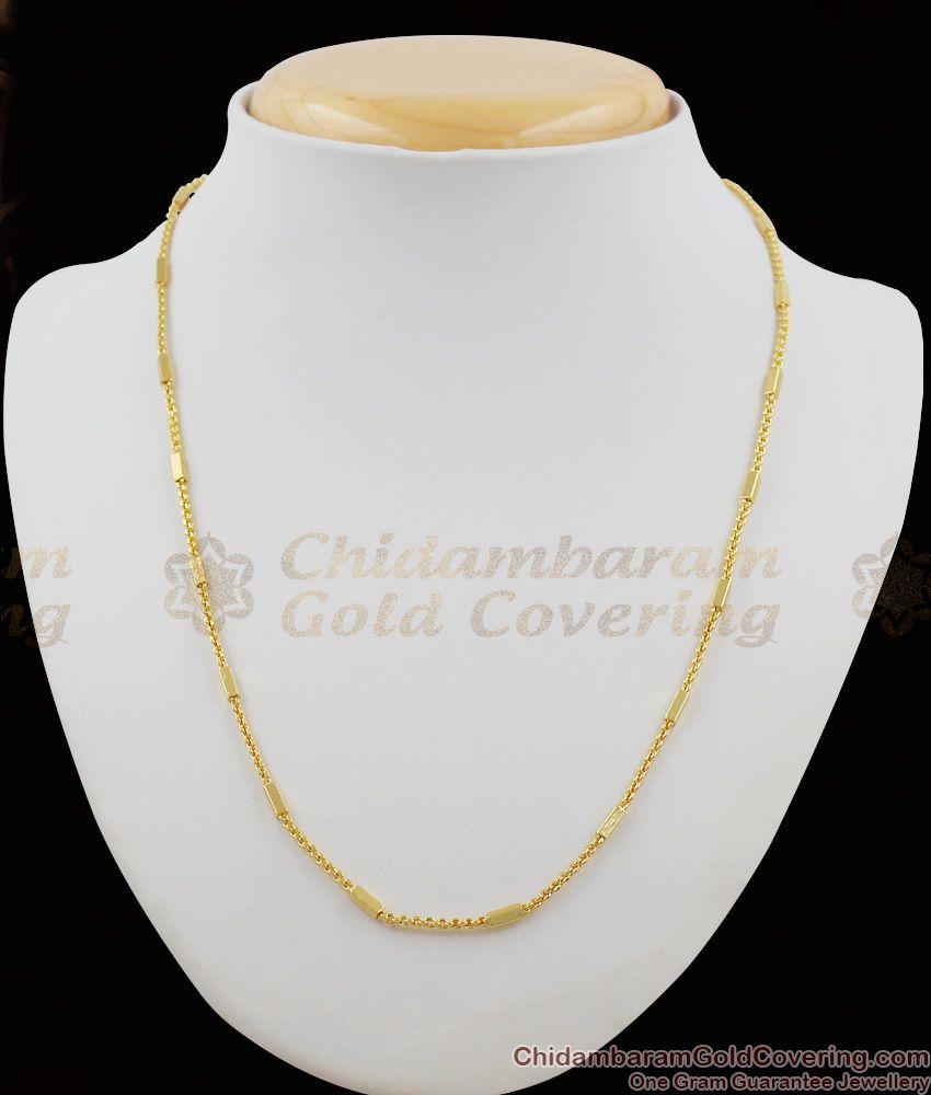 Handmade Trendy Design Gold Short Chain For Regular Use CHNS1006
