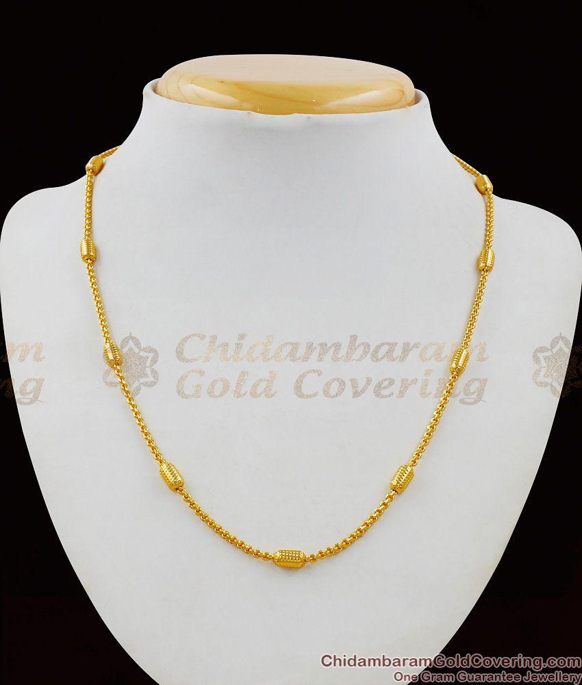 Unique One Gram Gold Short Chain For Men Regular Use CHNS1019