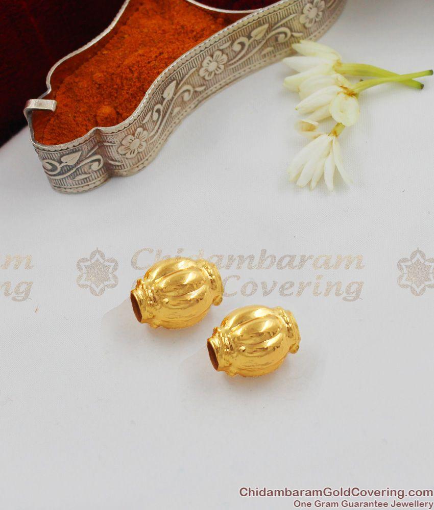 THAL57 Gold Plated Imitation Jewelry Thali Gundu Set Design For Traditional Thali