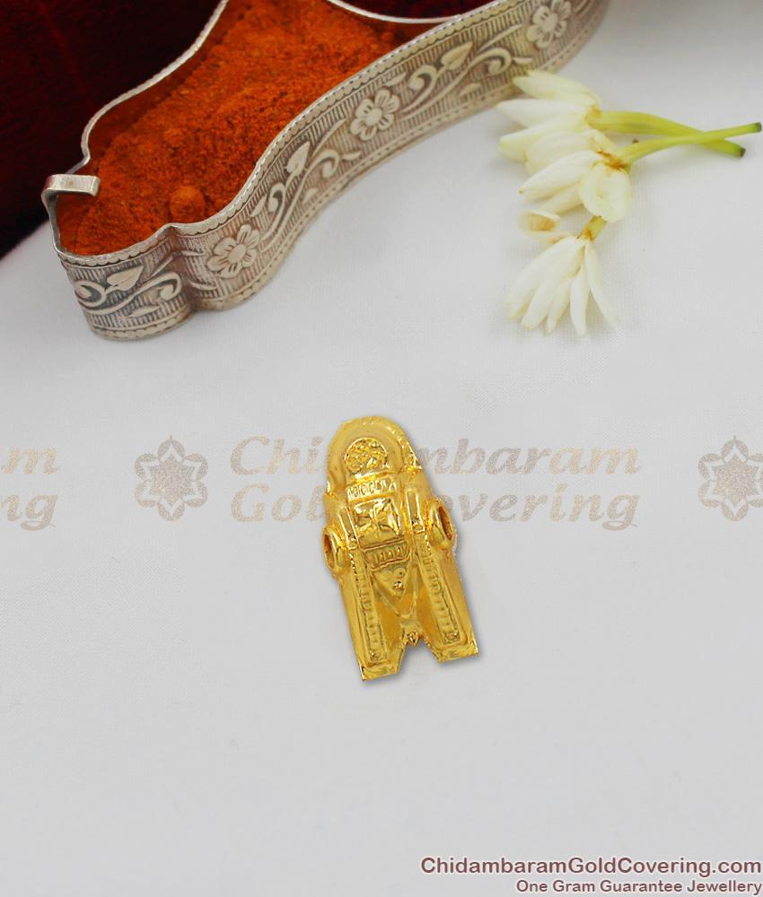 Thenkalai Vishnu Thali Thopa Thali One Gram Gold Thali Design For Muhurtham THAL70