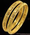 BR1100-2.4 Stunning Leaf Pattern Gold Bangles Special Gift For Girls