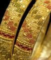 BR1147-2.6 Broad Kada Model Enamel Gold Forming Bridal Collection Bangles