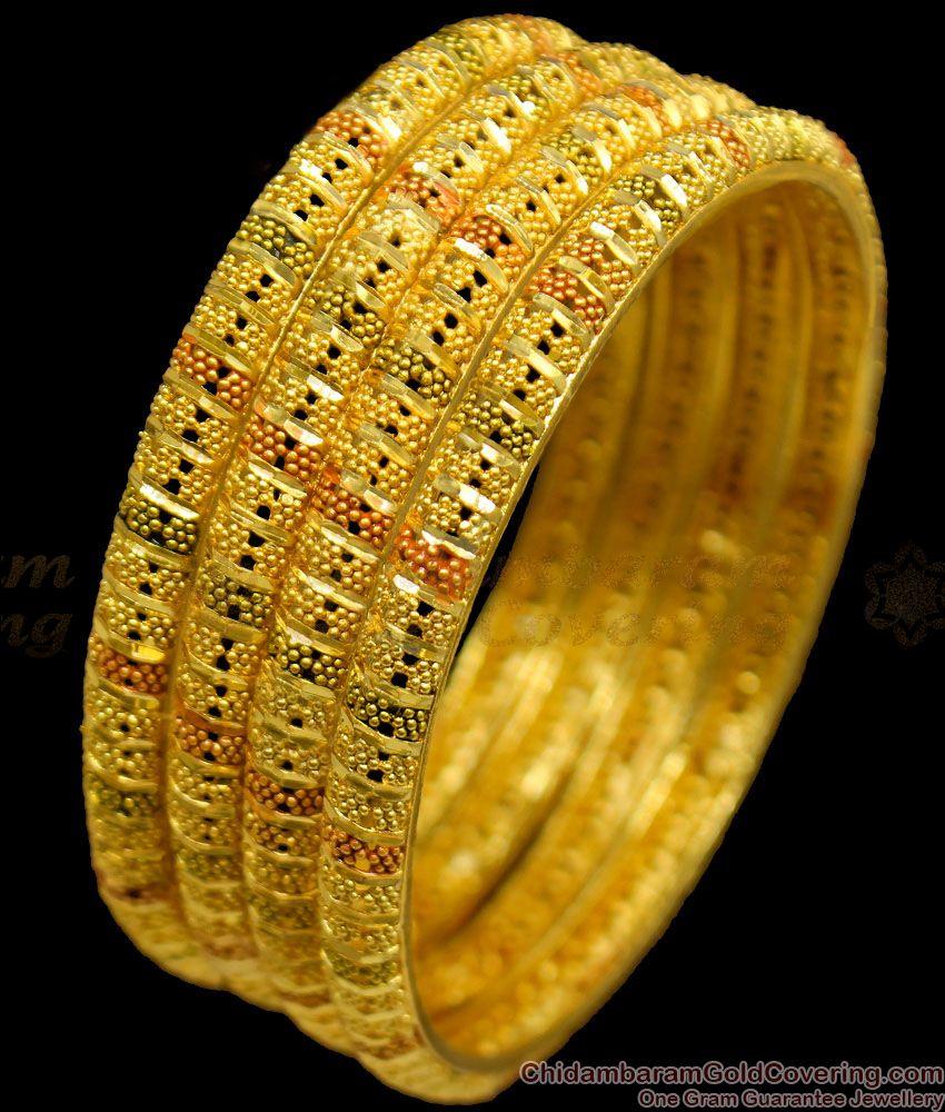 BR1154-2.6 Spiral Type Real Gold Forming Design Enamel Bridal Bangles Online