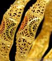 BR1159-2.6 Curvy Pattern Gold Inspired Forming Bangles Set Trendy Model