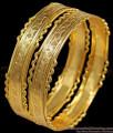 BR1170-2.8 Attractive Gold Tone Neli Edges Model Festive Design Bangles Collection Online
