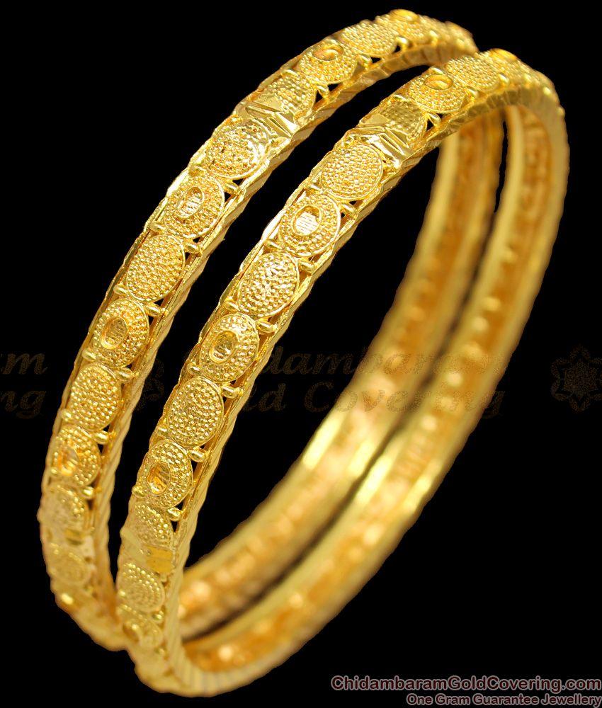 BR1215-2.8 Womens Daily Wear Gold Imitation Set Bangles New Design