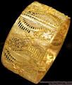 BR1229-2.4 Size Broad Leaf Design One Gram Gold Kada Bangles