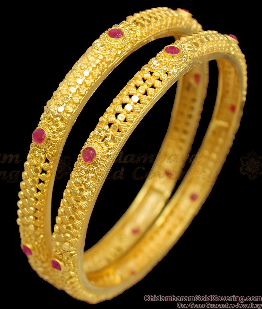 BR1241-2.4 Premium Forming Kerala Bridal Bangle Collections for Silk Sarees