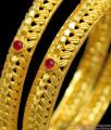 BR1166-2.8 Trendy Kundan Work Leaf Pattern Gold Forming Bangles For Ladies