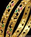 BR1180-2.6 Fascinating Flower Model Gold Bangles For Party Attire Online