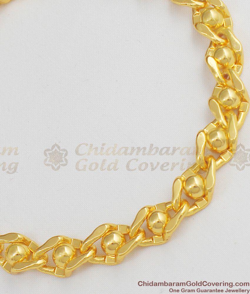 Aspiring Gold Ball Designed Bracelet For Ladies Best Selling Model BRAC051