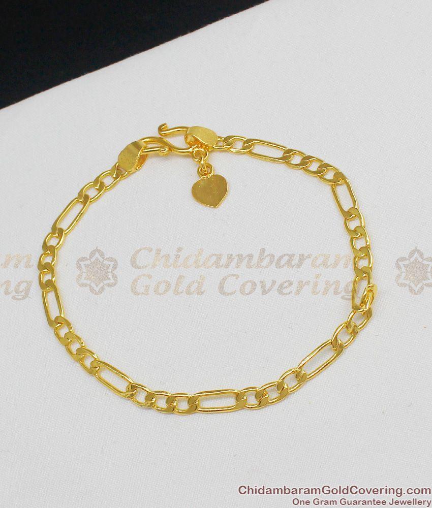 Thin Sachin Chain Design Gold Imitation Jewelry For Ladies With Guarantee BRAC074
