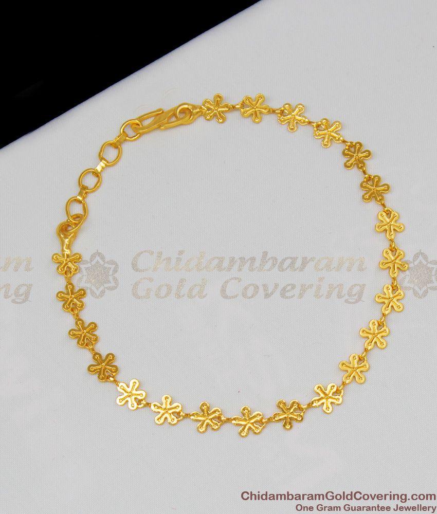 Lucky Star Design Light Weight Womens Bracelet Collection Gold Jewelry BRAC082