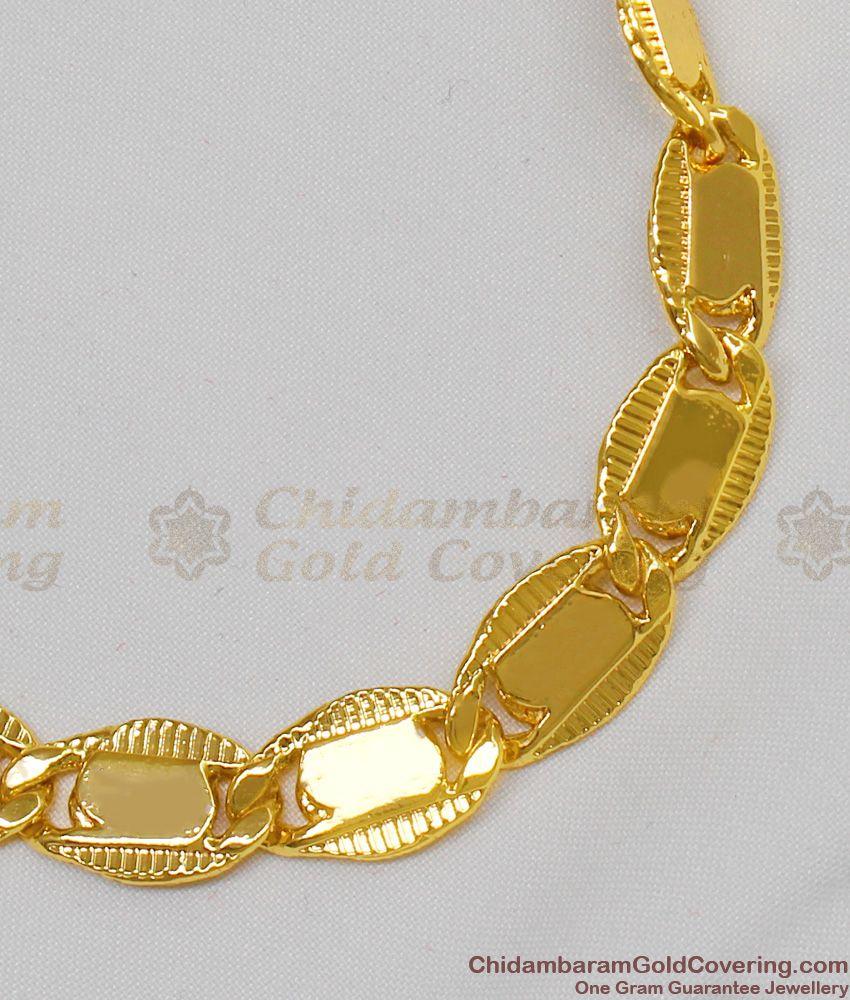 Royal Plain Gold Plated Thick Bracelet Jewelry Model New Arrival BRAC107