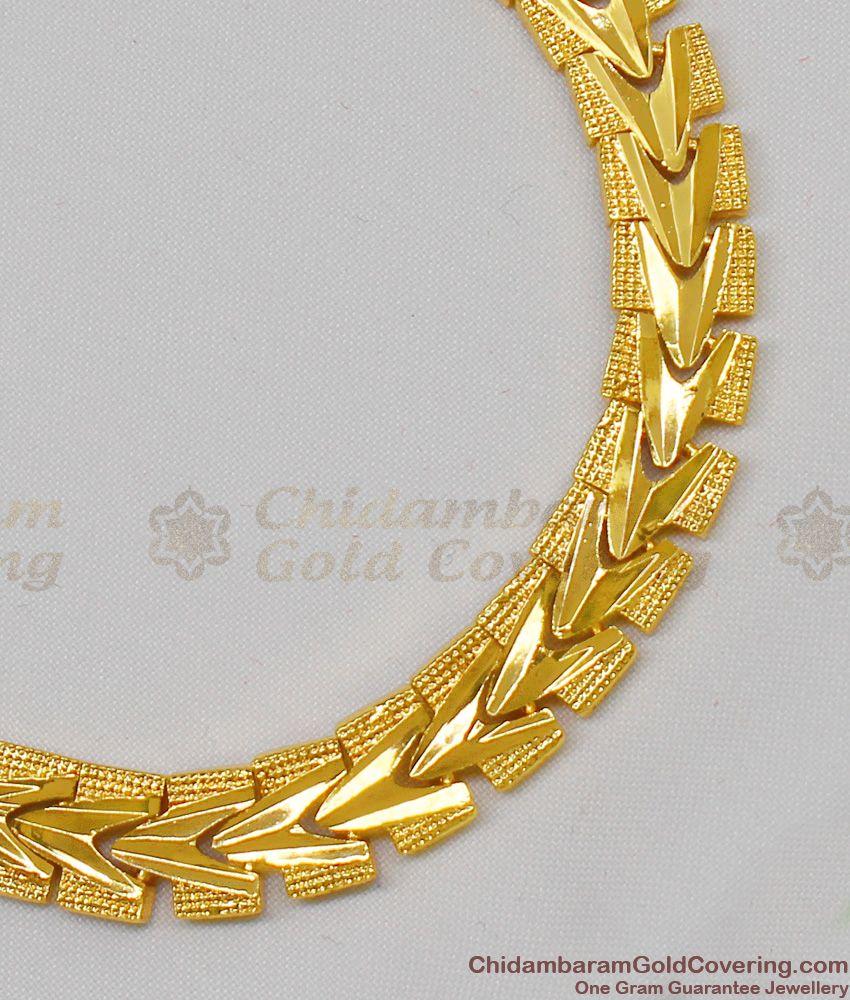 Gold Tone Traditional Design Thick Mens Bracelet Online Accessories BRAC114