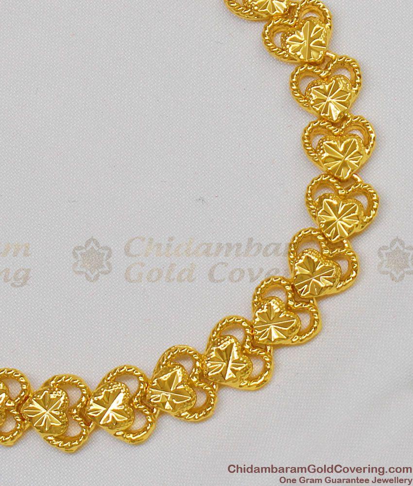 Star Heart Designed Handmade Gold Plated Fashion Bracelet Trendy Wear BRAC115