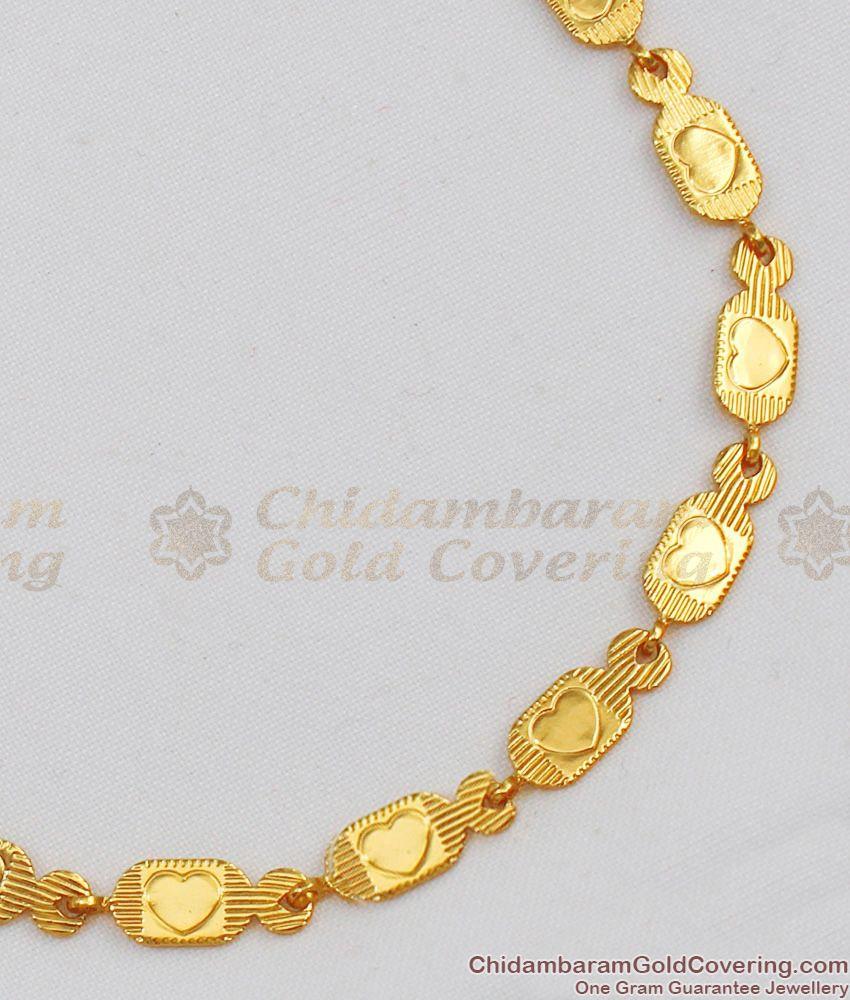 Lovers Special Gift Heart Model Light Weight Bracelet One Gram Gold Jewelry BRAC127