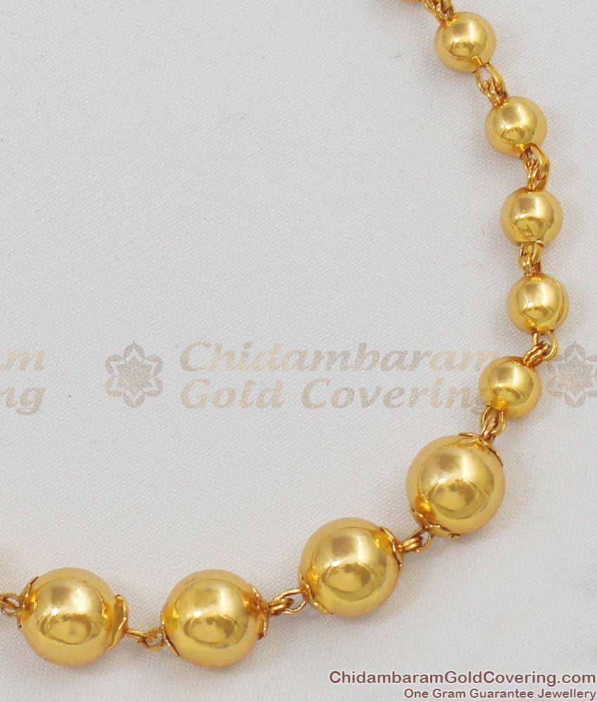 Unisex Charm Balls Gold ball bracelet Beaded Bracelets One Gram Gold Jewelry BRAC135