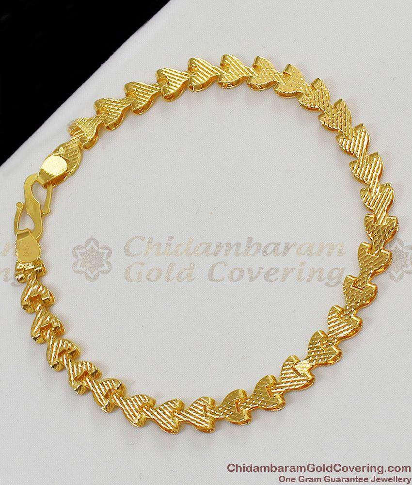Sparkling Gold Light weight Bracelet Party Wear Jewelry For Ladies Online BRAC064