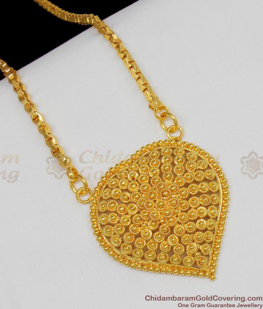 Grand Heart Design Gold Plated Dollar Chain Valentines Gift Online BGDR439
