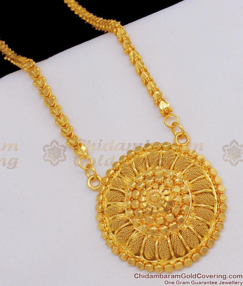 South Style One Gram Gold Bridal Wear Dollar Chain For Women BGDR486