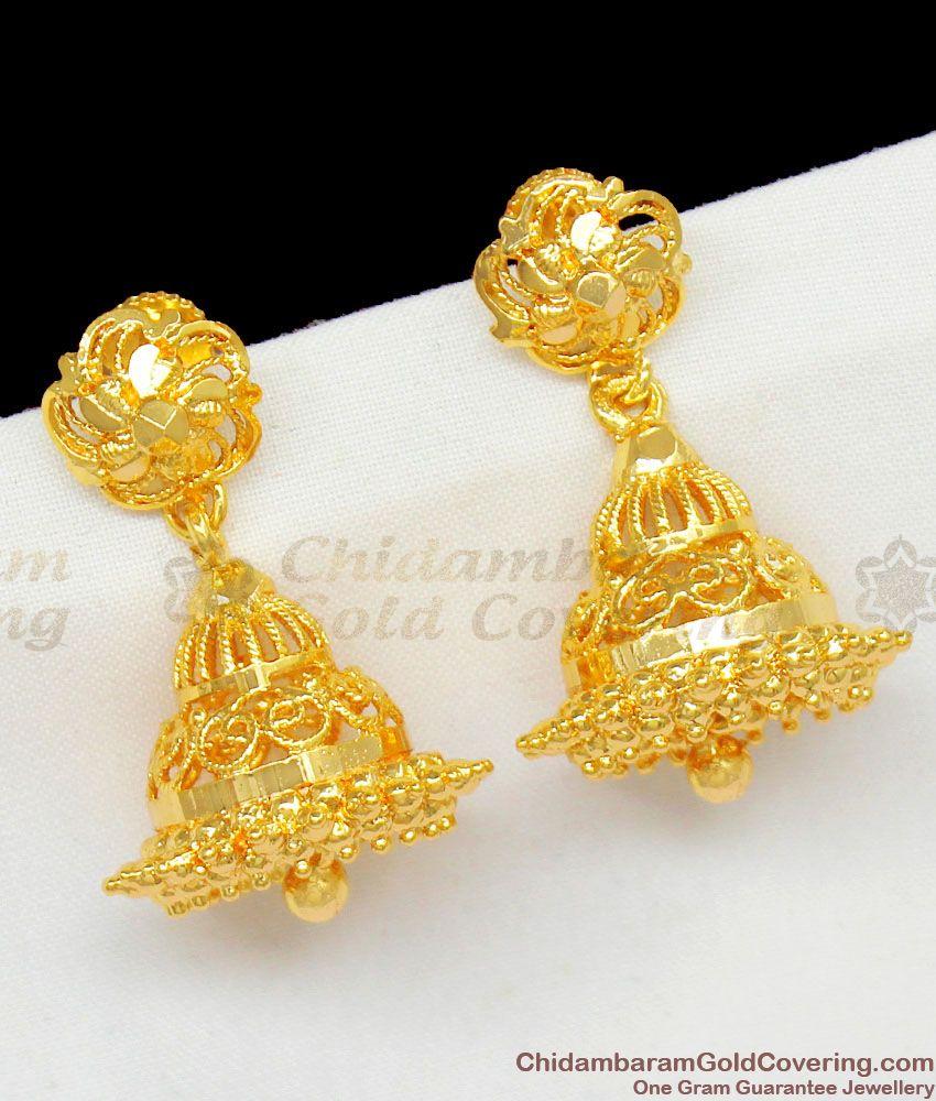 Adorable Gold Inspired Jhumki Trendy Model Party Wear Earrings ER1448