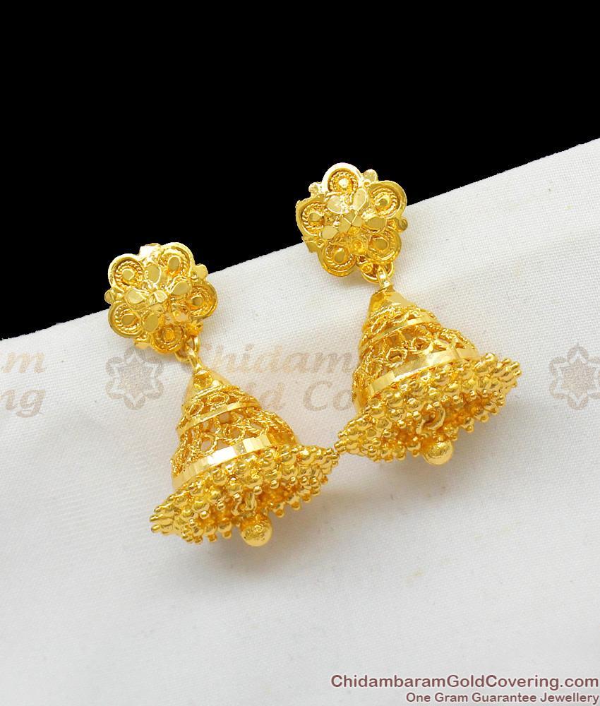 Artistic One Gram Gold Imitation Jhumki Collections Online Offer Price ER1597