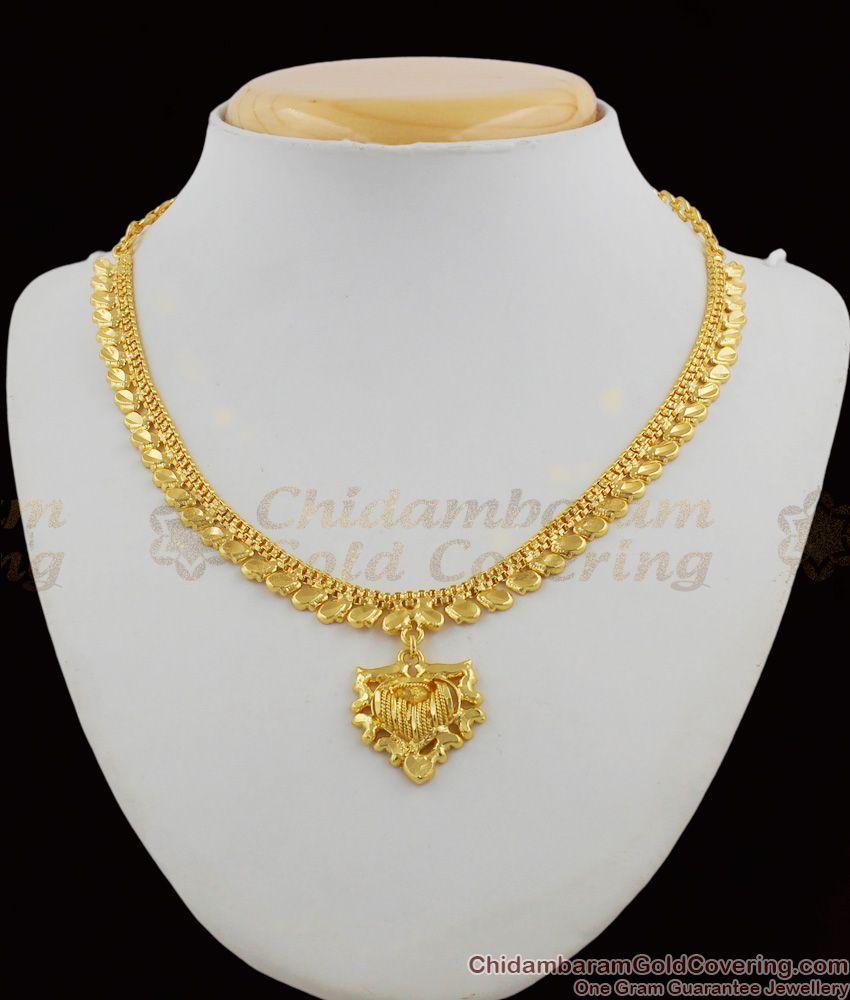 Fancy Wear Light Weight Calcutta Design Gold Plated Necklace Collections NCKN1236
