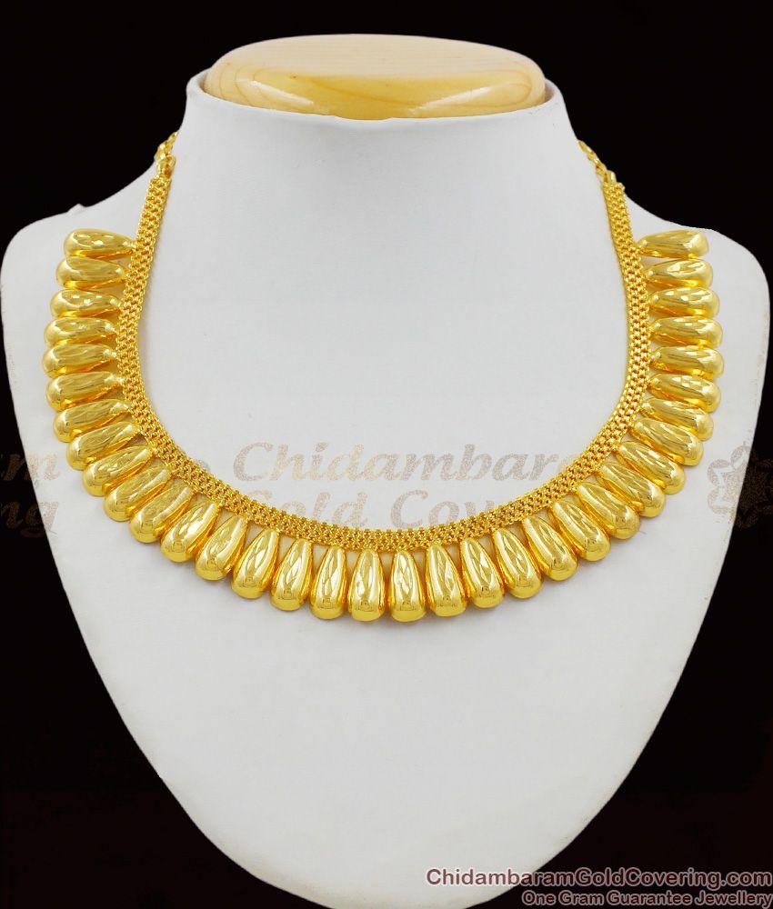 Imitation Gold Kerala Pattern Bridal Design Short Necklace Jewellery Online NCKN1323