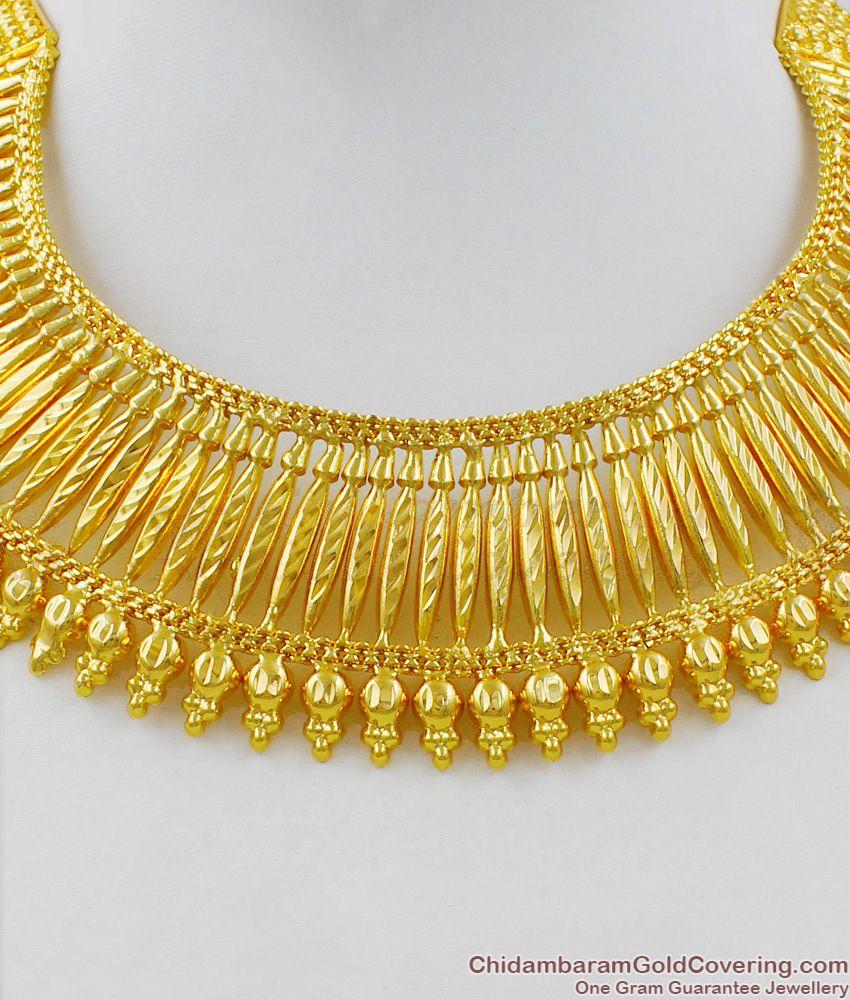 Grand Kerala Bridal Choker Necklace Collection One Gram Guarantee Jewelry NCKN1403