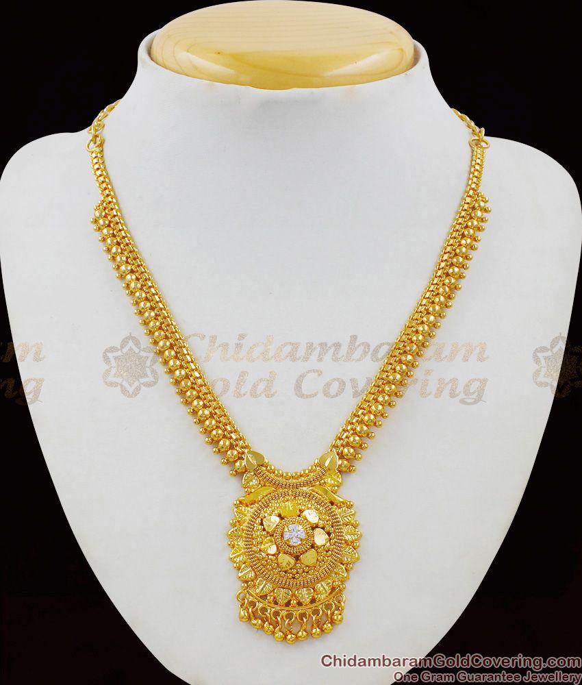 Traditional Beaded Necklace One Gram Gold Finish Guarantee Jewelry NCKN1467