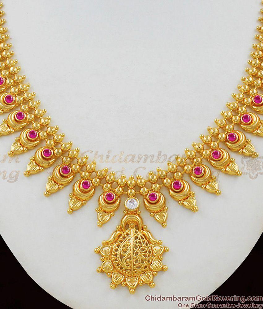 Beautiful Long Mullaipoo Kerala Necklace Patterns for Marriage Functions NCKN1477