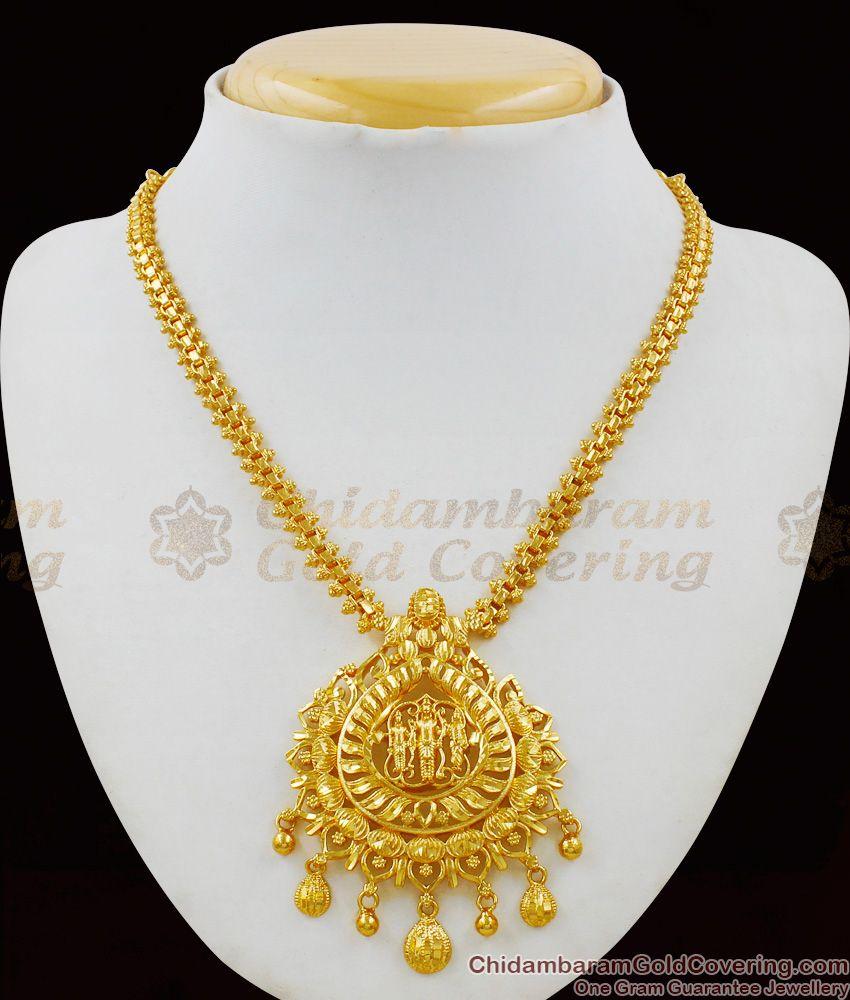 Traditional Rama Lakshmanan Seetha Dollar One Gram Gold Necklace Collections NCKN1481