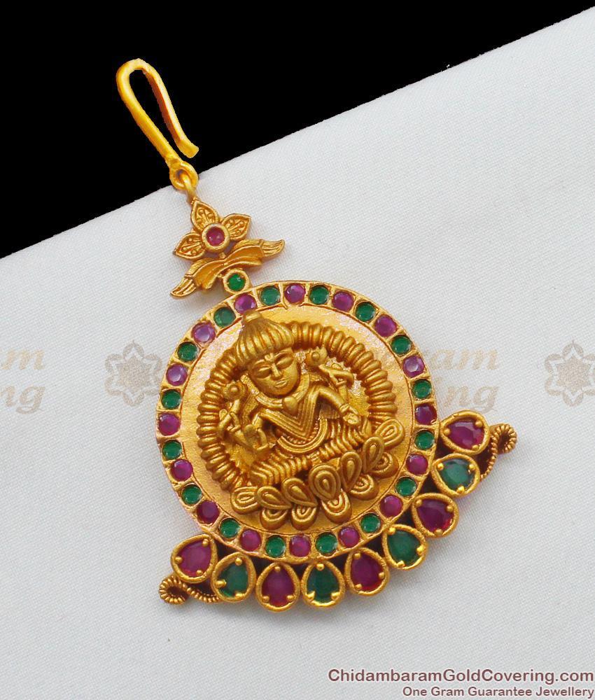 Antique Temple Jewelry Lakshmi Design Short Mang Tika Collections NCHT135