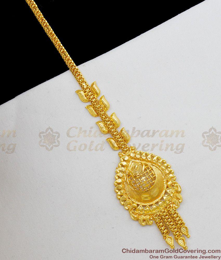 Real One Gram Gold Papadi Billa Bridal Wear Ornament Ladies Favorite Design NCHT94