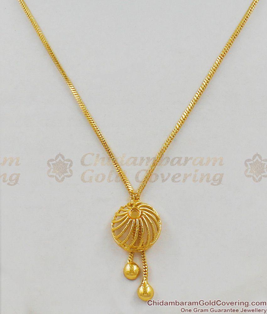 Thin Fancy Design Beautiful Gold Aspiring Small Pendant Dollar Chain SMDR296