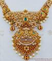 TNL1011 - Grand Premium Antique Matt Finish Peacock Choker Set Bridal Jewellery