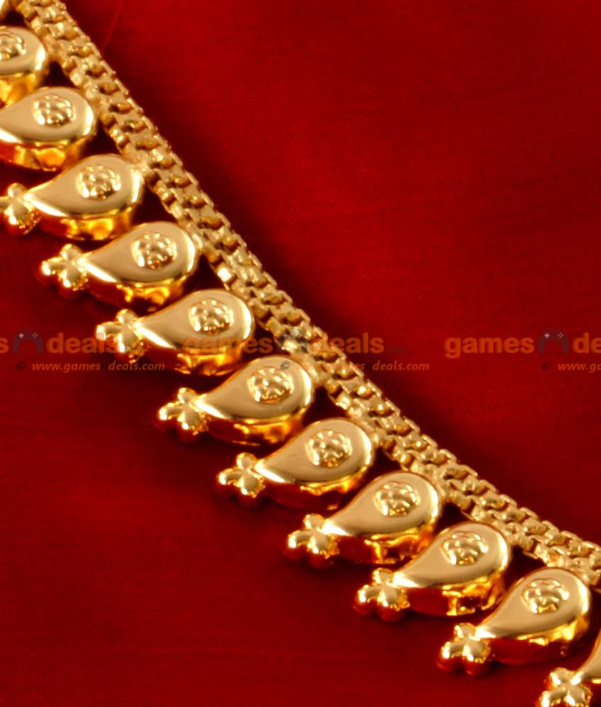 ARRG05 - Traditional Maanga Malai Long Haram Design Gold Plated Jewellery