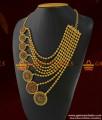 ARRG160 - Grand MultiLine Bridal Wear Semi Precious Ad Stone Haram Imitation Jewelry