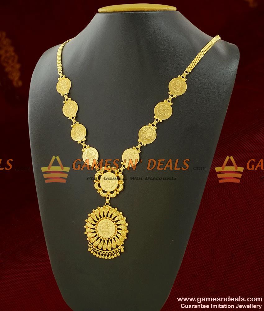 One Year Guarantee Full Lakshmi Kasu Dollar Kerala Jewelry ARRG301