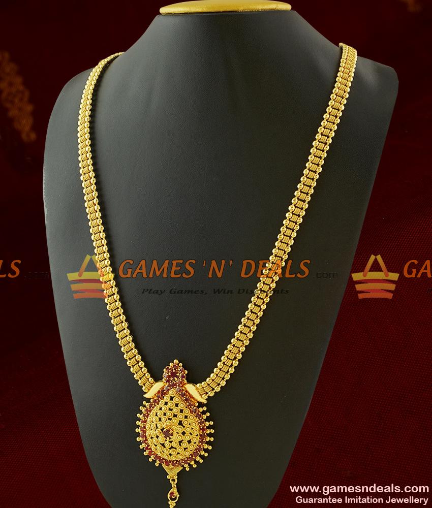 Kerala Haaram Design One Year Guarantee Imitation Jewelry Online Shop ARRG307