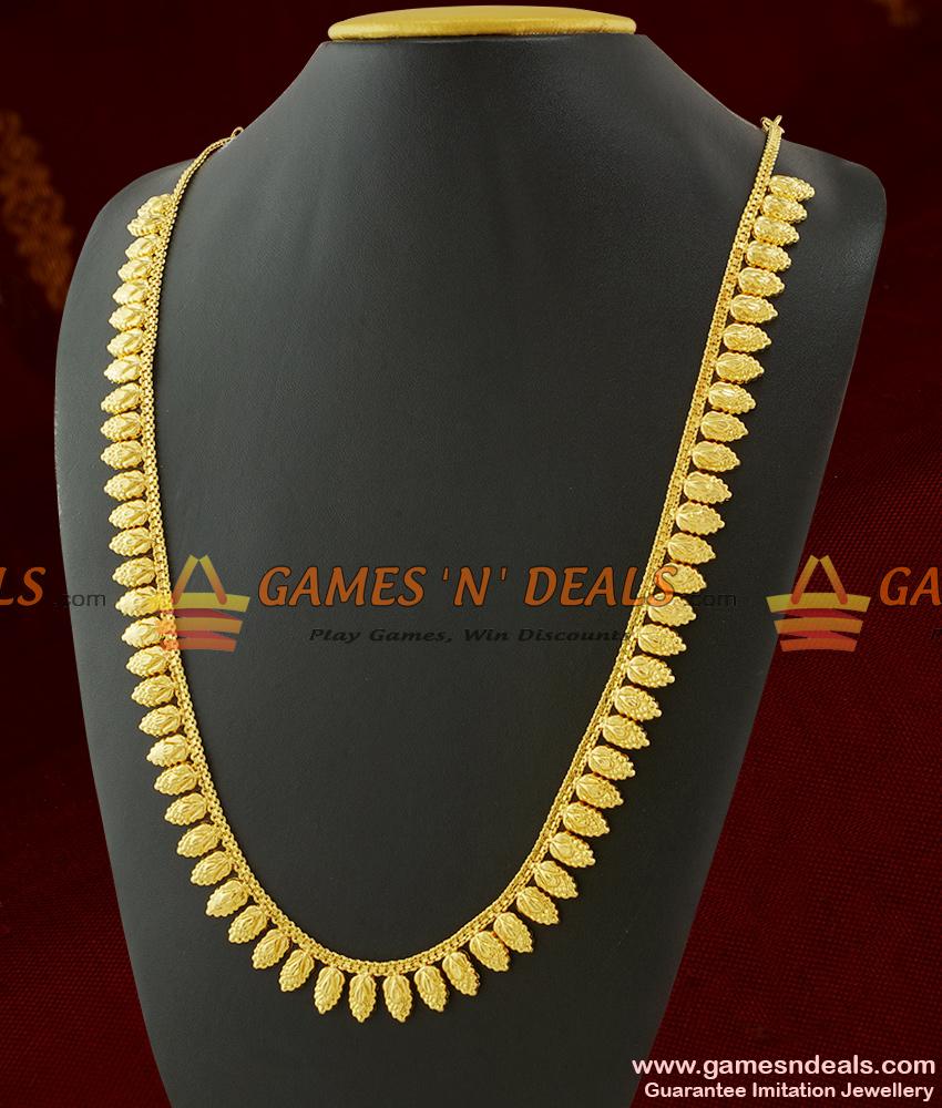Light Weight Kerala Gold Leaf Pattern Traditional Mullai Poo Haaram Design ARRG310