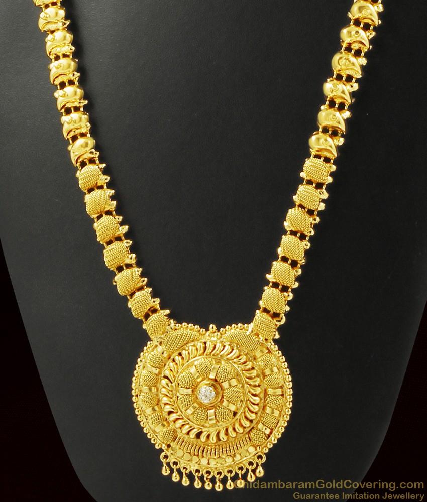 White Stone Kerala Haaram For Marriage ARRG373
