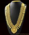 Mango Leaf Gold Inspired Heavy Kerala Bridal Necklace ARRG384