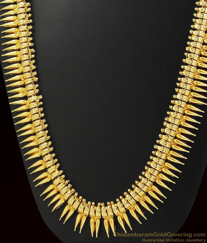 Long Mullaipoo Traditional Gold Design Kerala Haaram ARRG388