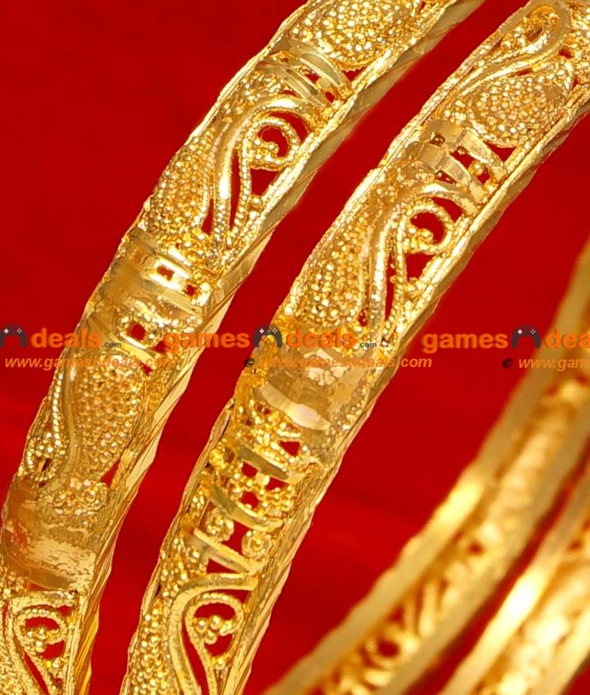 BG057-2.8 Size Gold Plated Imitation Bangle Traditional ...